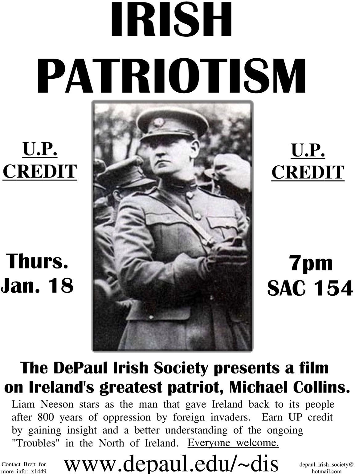michael collins irish patriot essay