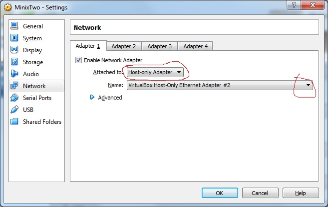 Host-only Networking in VirtualBox