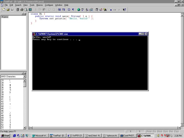 how to run java program in powershell