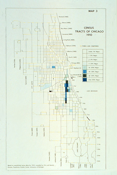 Census Map Chicago Census Tracts of Chicago 1910