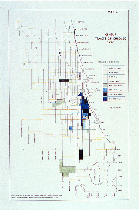 Census Map Chicago Census Tracts of Chicago 1920